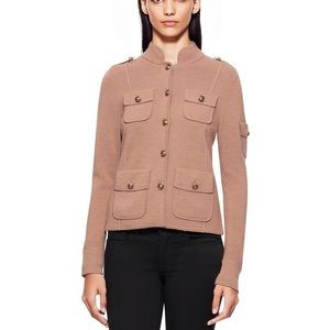 Tory Burch Shrunken Sgt Pepper Camel Sweater